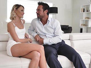 Hot blond pet Emma Hix is having crazy sex fun with handsome boyfriend Johnny Castle