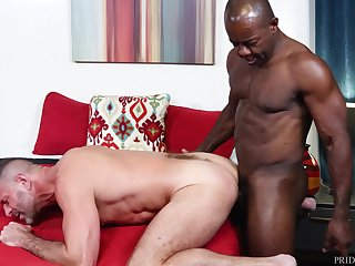 Black gay male ass fucks his man bareback