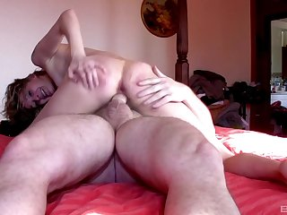 Naked amateur feels excited to swell up dick and lose one's heart to hard in excess of cam