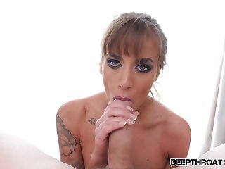 Silvia Dellai is eating loads of brand-new cum after she was sucking a huge cock