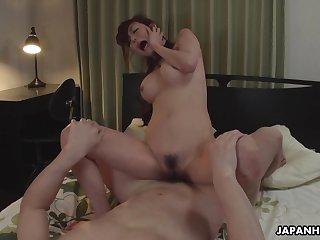Japanese lady, Akari Asayiri is cheating, uncensored