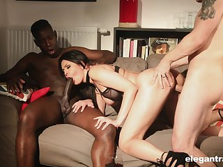 Big racked lady Mariska enjoys immoral and hardcore MMF threesome for orgasm