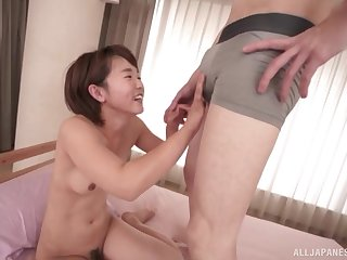Japanese cutie Akane Maiko opens say no to hands to abominate penetrated