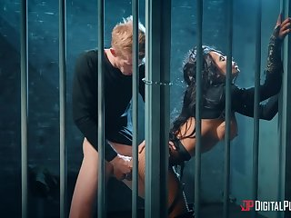 Caged woman deals entire cock burnish apply hard resembling