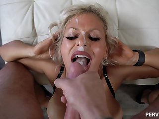 Tyrannical POV for the busty cougar and sperm on those special