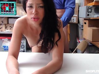 Dirty predisposed brunette, Amethyst Banks was despairing by a long chalk everywhere fuck when she was caught shoplifting