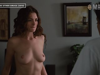 Anne Hathaway bares her great tits in Hollywood's most erotic scene