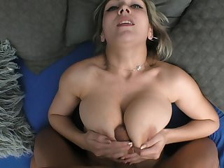 POV video be incumbent on a lucky baffle getting his stiff dick sucked by Siya Jey