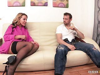 Pretty good become man Nikki Sexx there stockings rides her lover's manhood