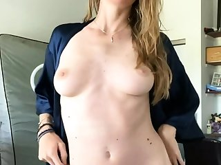 European blonde solo masturbating