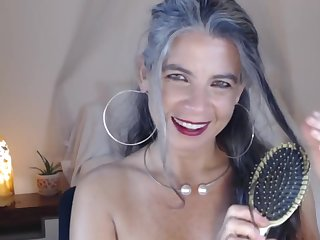 Super Granny shows her congress on webcam