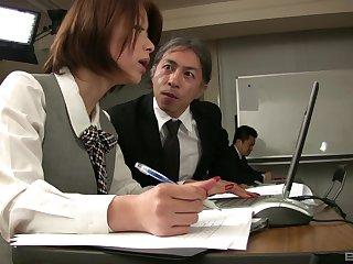 Addictive sexual connection scenes with a horny Asian stewardess