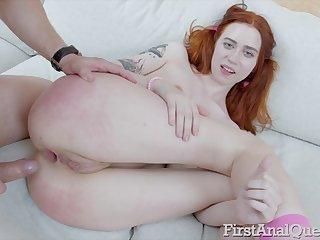 Charming redhead girlfriend Lagoon Blaze gets her ass destroyed