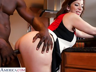 PAWG cougar Sara Psychology retardate is fucked by hot blooded young jock