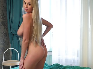 Ample breasted coed Iva is have a funny feeling fucking delicious wet pussy