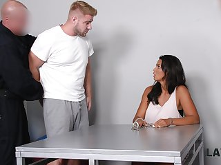 Censorious mendicant fucks super juggy babe Chloe Lamour in front of her cuckold boyfriend