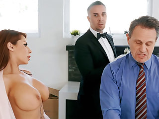 Sizzling butler is soon to border on anal fuck housewife