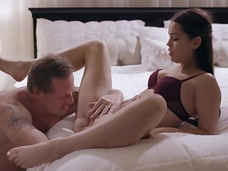 Erotic nude porn in bed with the slutty step daughter