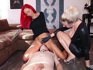 German Domina Let Slave Lick Mistress Teen Pussy Beside Org