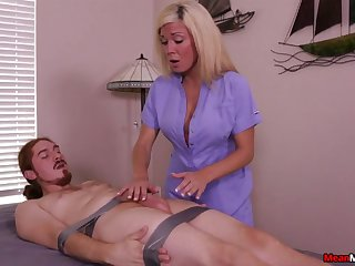 Sexy blonde is intrigued far the guy's total deference