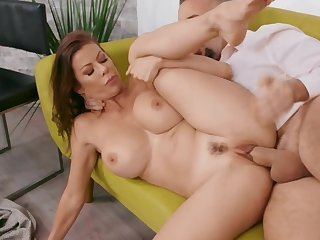 Big-boobied MILF wants to loathing fucked by husband's workmate