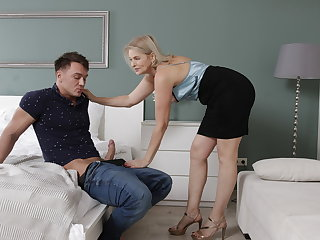 MATURE4K. Cheerful mature unsubtle walked into man's room