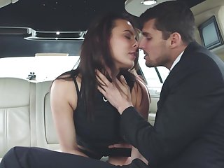 Back seat orgasms for a nice limo ride
